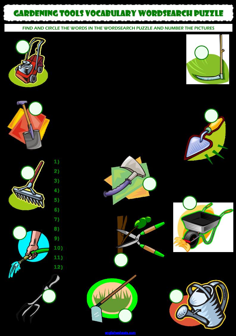 Garden Tools In English Dunia Belajar